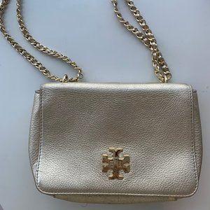 Gold Tory Burch purse